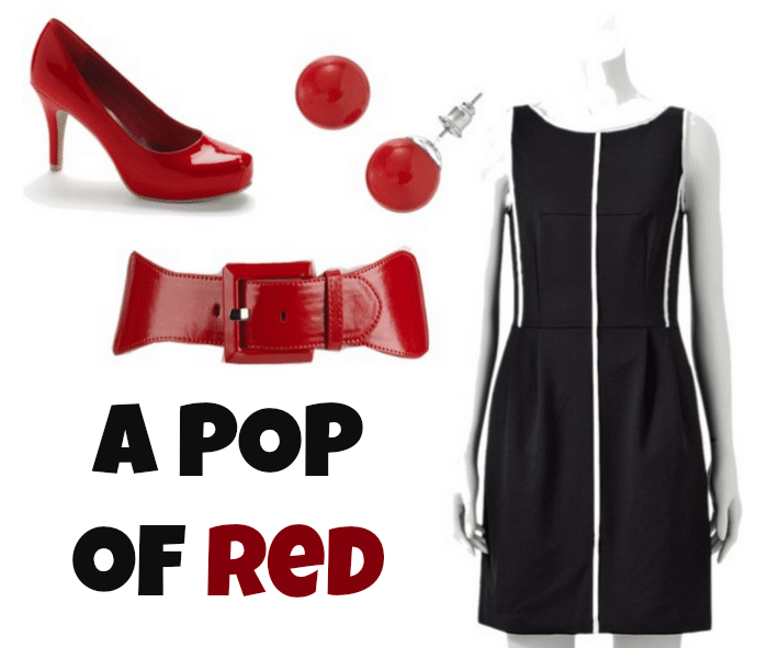 Black & White with a pop of red from Kohl's!