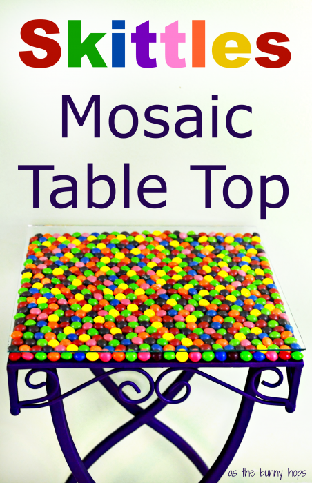 Skittles Mosaic Table Top #VIPFruitFlavors #collectivebias #shop