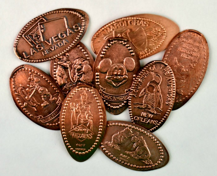 Cleaned Smashed Pennies