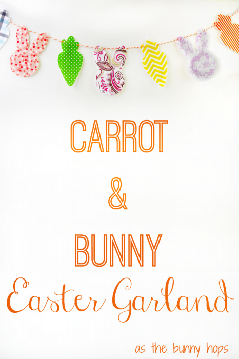 Easy to make Carrot and Bunny Easter Garland Tutorial!