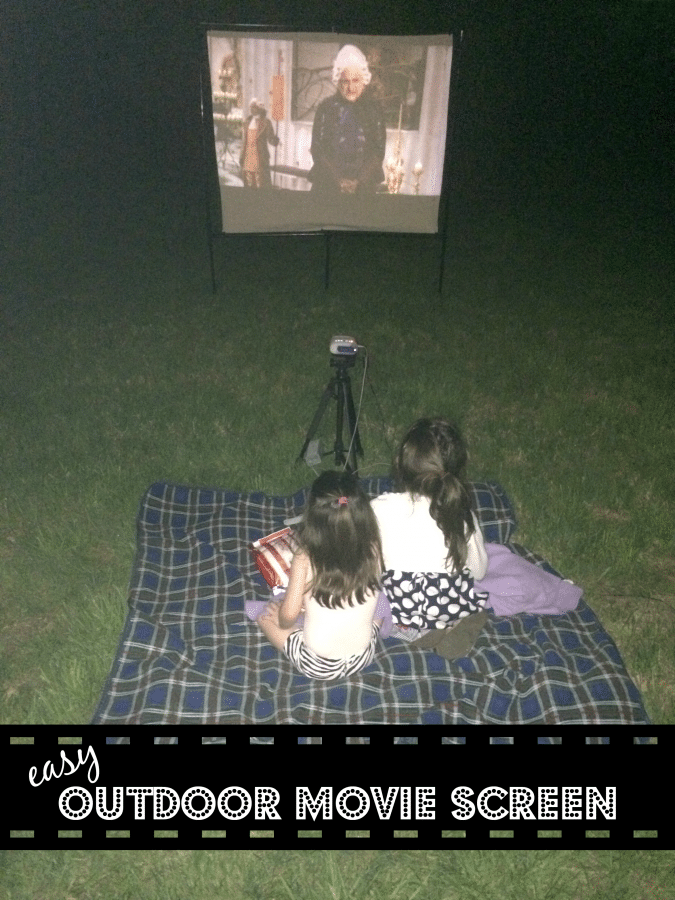 Easy Outdoor Movie Screen