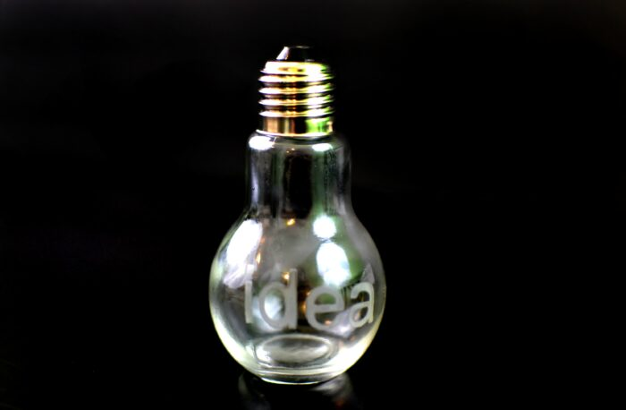 Etched Light Bulb