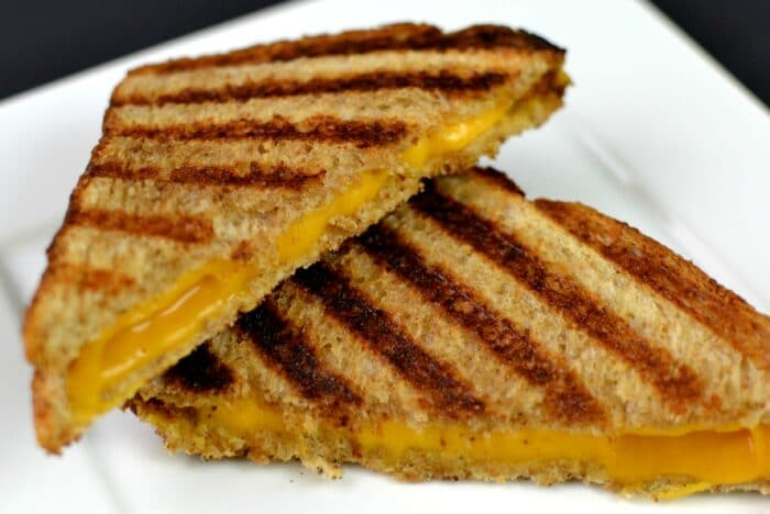 Use a panini press for the ultimate grilled cheese!