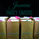 {Tutorial} Princess Jasmine Party Favors and Photo Spot