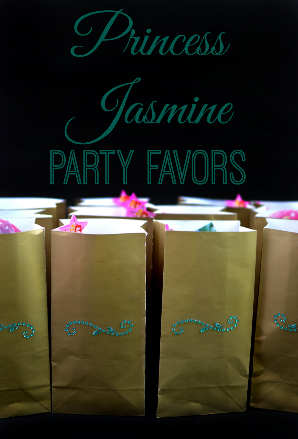 Princess Jasmine Party Favors And Photo Spot As The Bunny Hops
