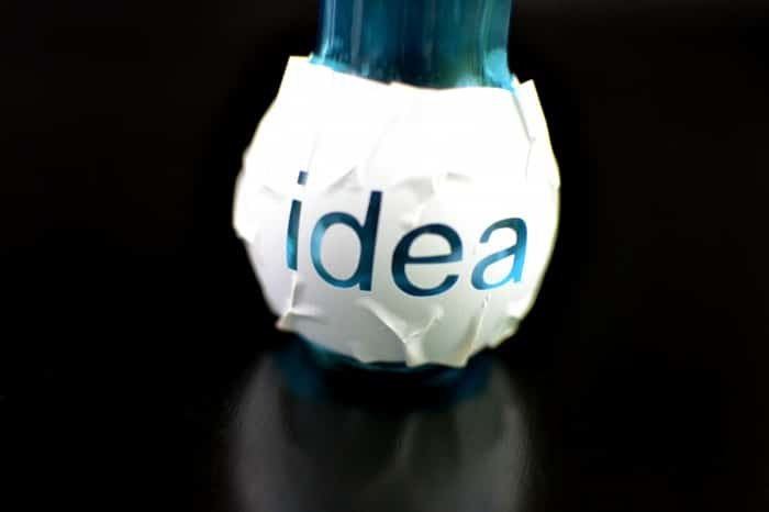 etched bulb with stencil