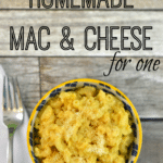 {Recipe} Easy Mac & Cheese for One