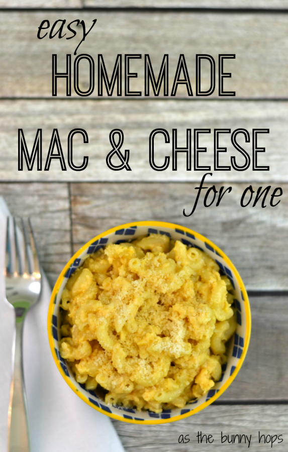 Easy Homemade Mac and Cheese for One