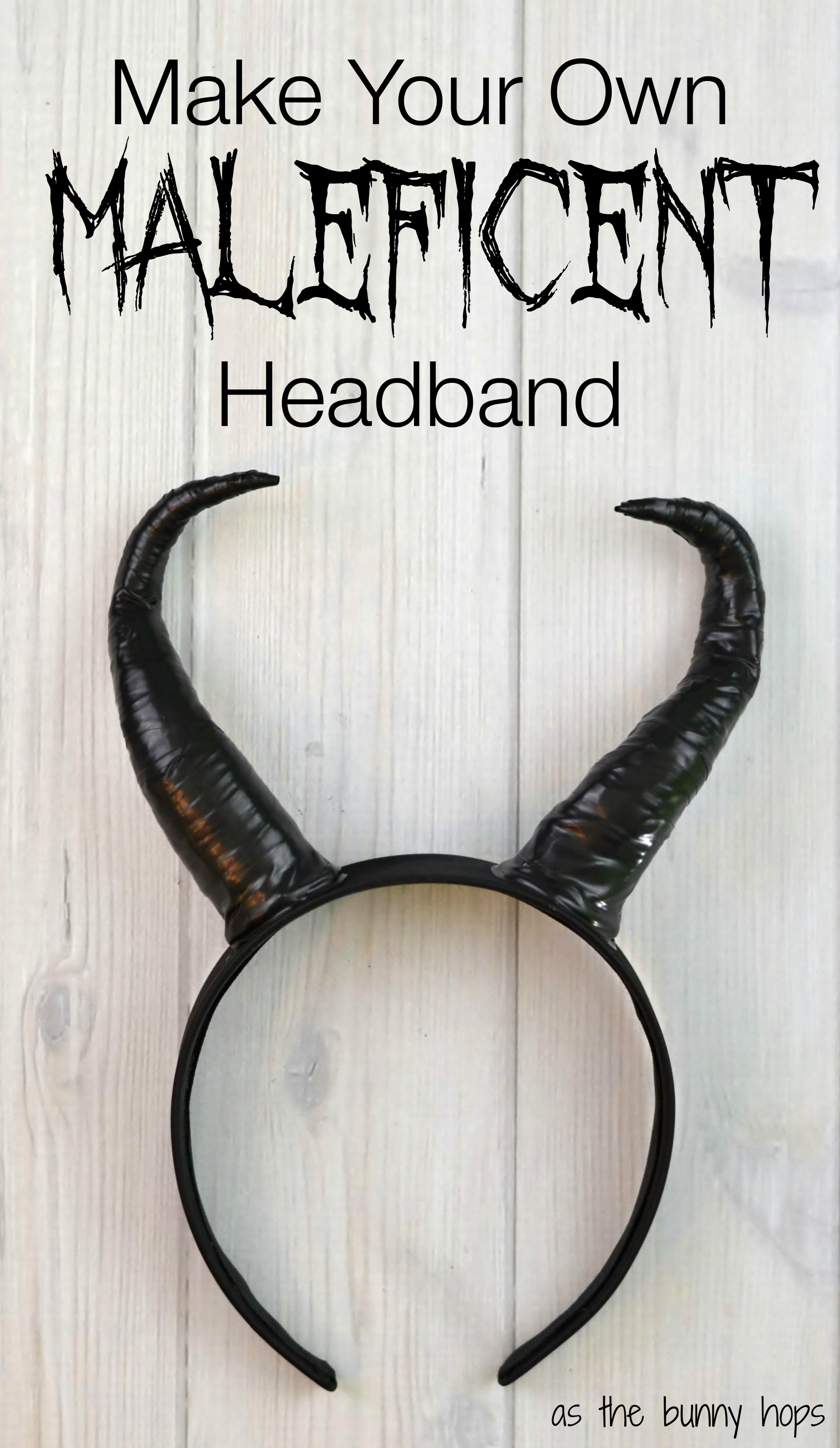 Diy maleficent headband as the bunny hops diy maleficent headband solutioingenieria Images