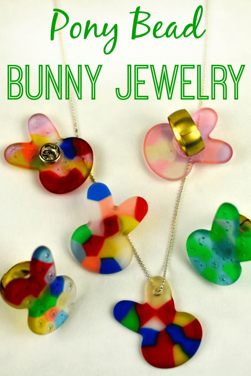 Melted Pony Bead Bunny Jewelry - As The Bunny Hops®