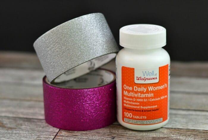 Vitamins and Glitter Duck Tape