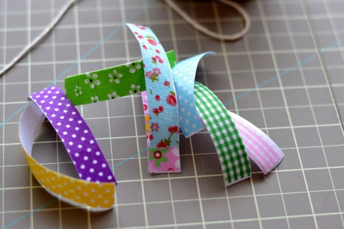 Make an easy bunting with fabric tape and twine! It only takes a few minutes!