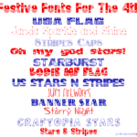Festive Fonts for 4th of July Projects