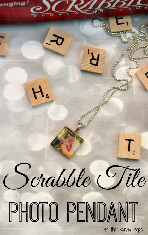 Scrabble Tile Photo Pendant