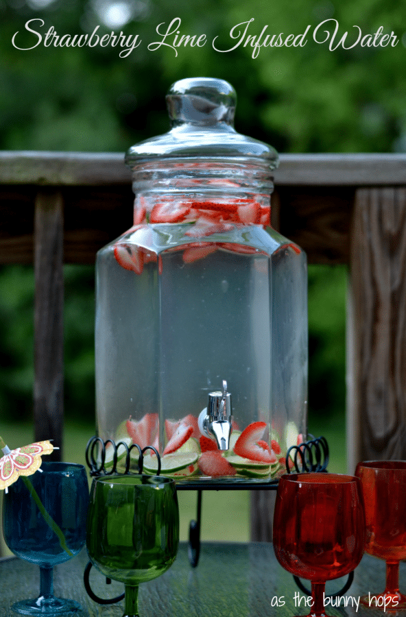 Enjoy easy and healthy strawberry and lime infused water!