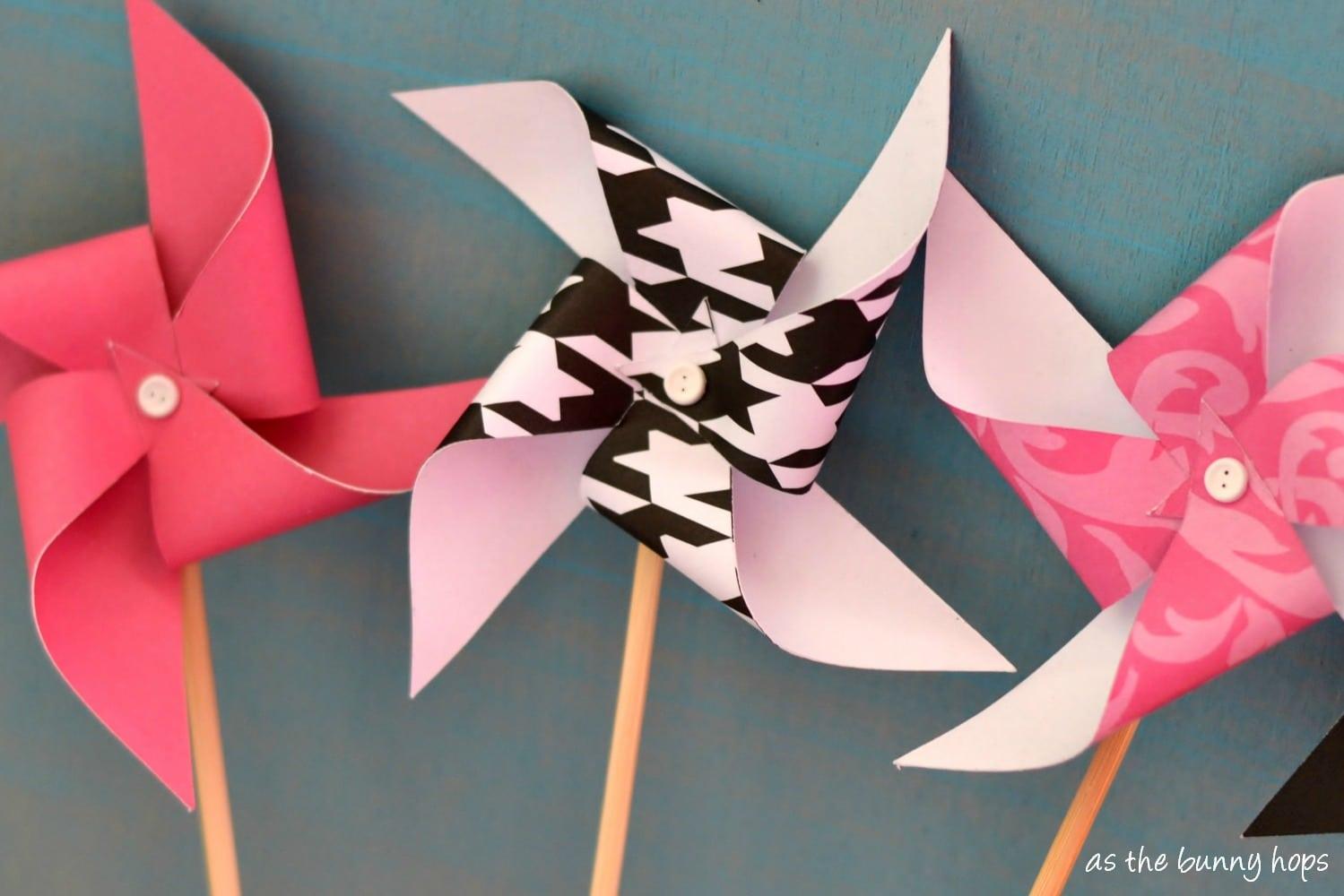 Easy Paper PinwheelsAs The Bunny Hops®