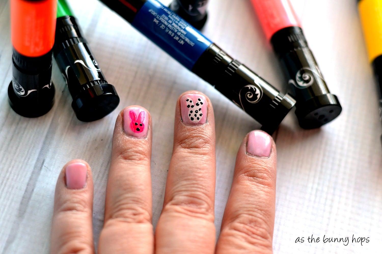 Easy Stencil Nail Art - As The Bunny Hops®