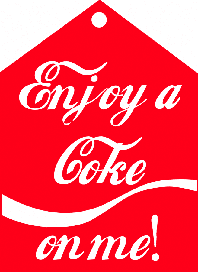 Enjoy a Coke Bottle Tag #ShareItForward #shop