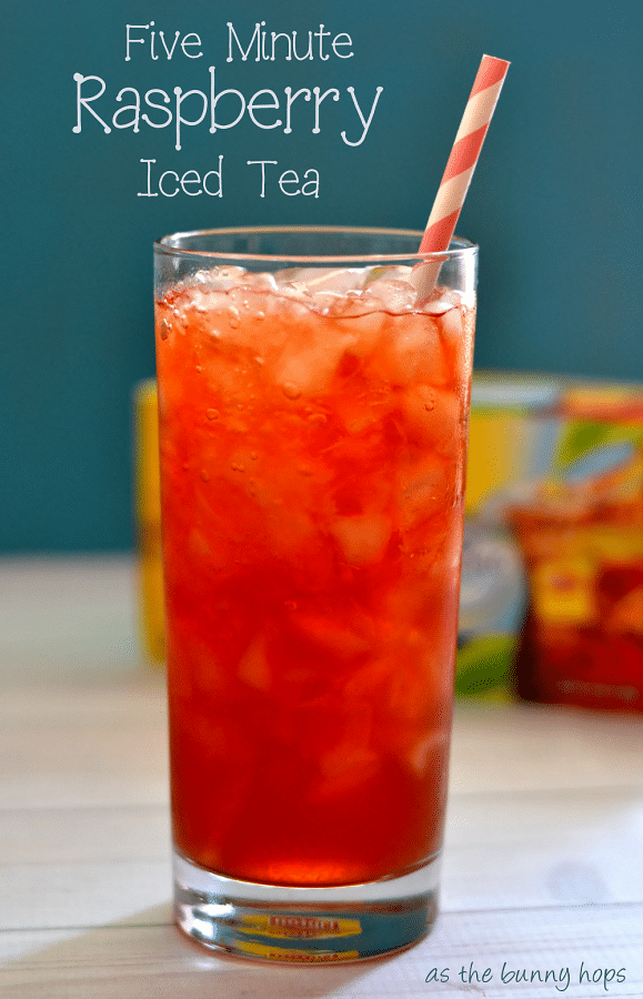 Make easy raspberry iced tea in five minutes!