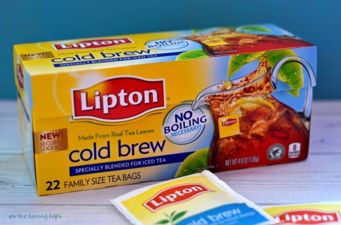 Lipton Cold Brew Iced Tea is ready in just five minutes!