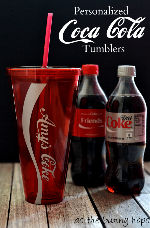 Make personalized Coca Cola bottle tumblers and #shareitforward! #shareacoke #shop #collectivebias