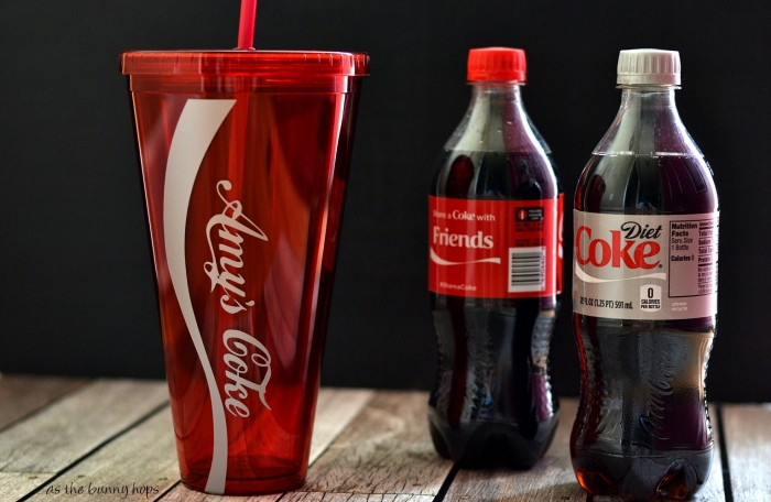 Make personalized Coca Cola bottle tumblers and #shareitforward! #shareacoke #shop #collective bias