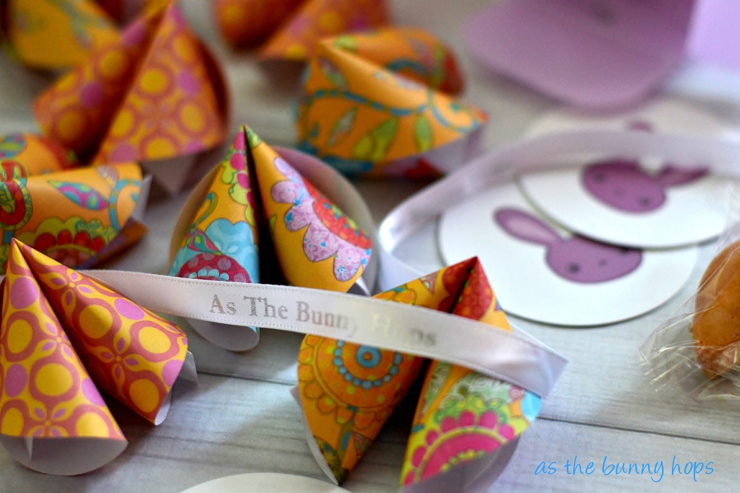Fortune cookie business cards as the bunny hops make paper fortune cookies to use as business cards and stand out from the crowd colourmoves
