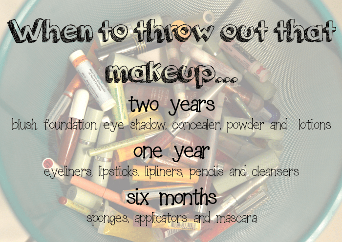 When should you throw out your makeup