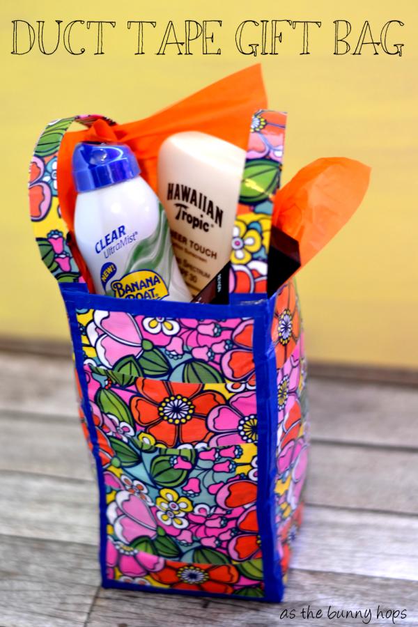Duct Tape Summer Gift Bag #WalgreensBeauty  #shop