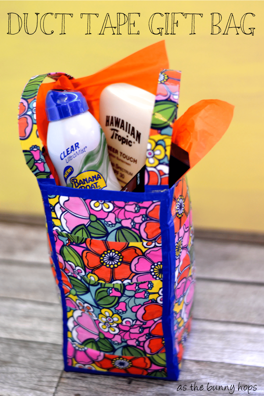 Duct Tape Gift Bag and Summer Beauty Gift - As The Bunny Hops®