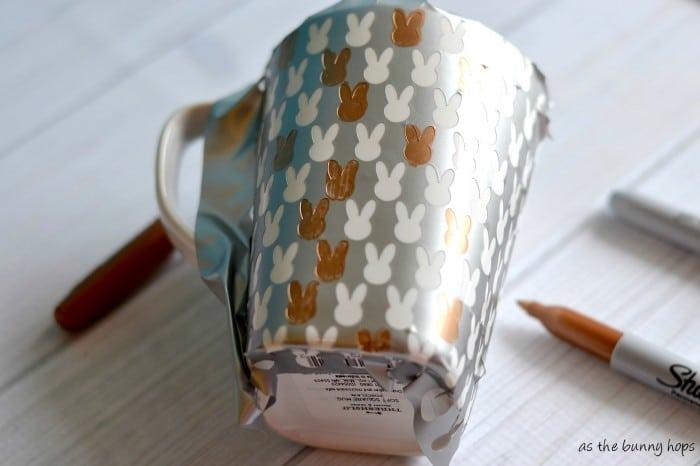 Mug with Stencil