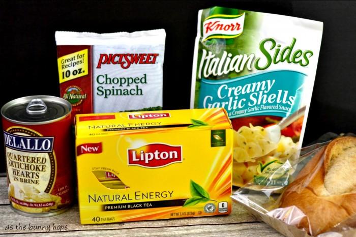 Spinach Artichoke Pasta Ingredients
