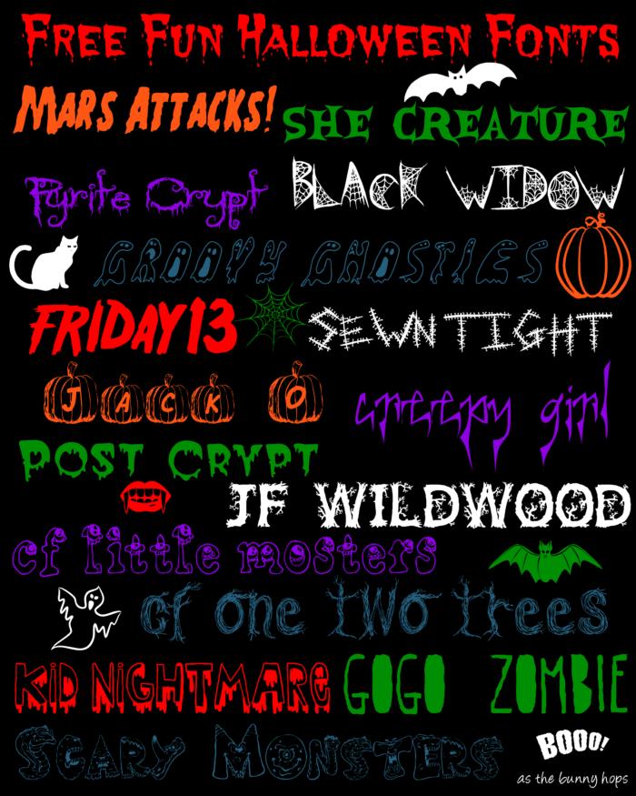 Free Fun Halloween Fonts