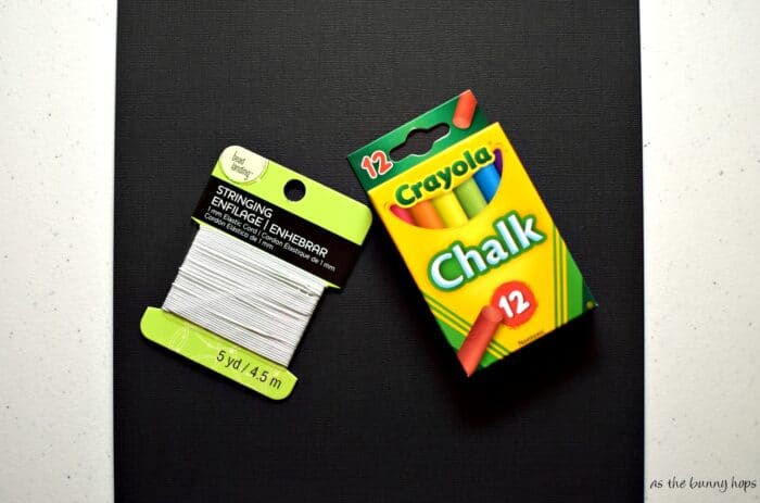 The only supplies you need for an easy chalk board mask!