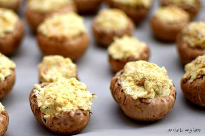 Perfect for holiday meals, but so simple you might want them everyday! Four ingredients and simple prep make stuffing stuffed mushrooms one of my favorite recipes!