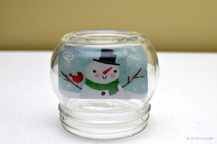 Gift Card Snow Globe Without Water
