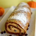 {Recipe} Chocolate Chip Pumpkin Ice Cream Roll