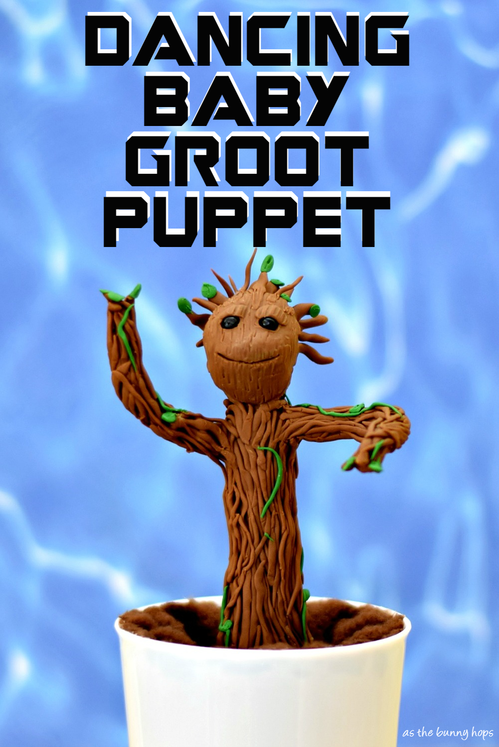 Dancing Baby Groot Puppet As The Bunny Hops
