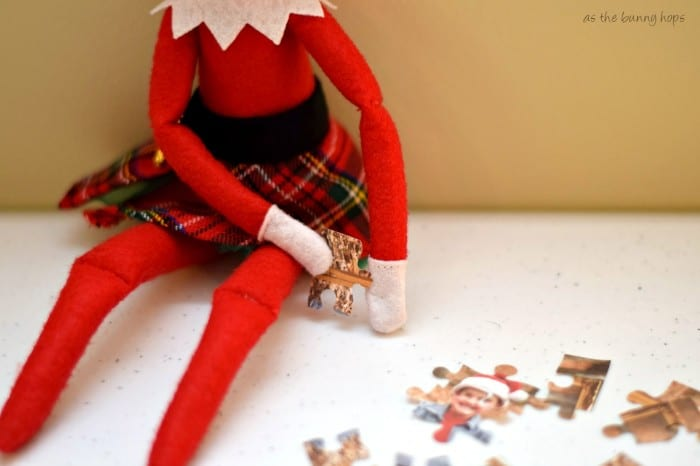 Create an Elf On The Shelf sized puzzle with your Silhouette!