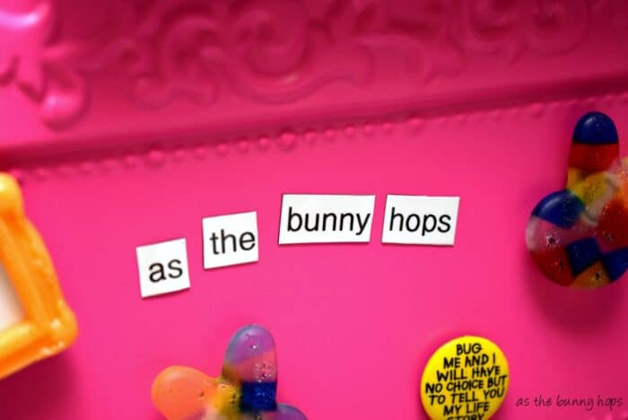 You'll love this easy to make DIY magnetic poetry style shopping list!