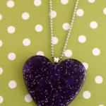 Pony Bead Heart Necklace