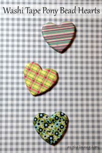 Washi Tape Pony Bead Hearts