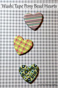 Washi Tape Pony Bead Hearts