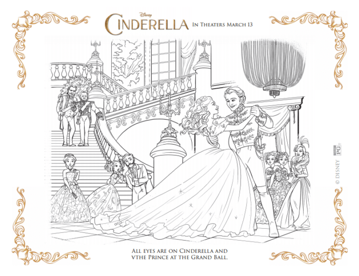 download fun cinderella coloring pages - Cinderella Coloring Pages