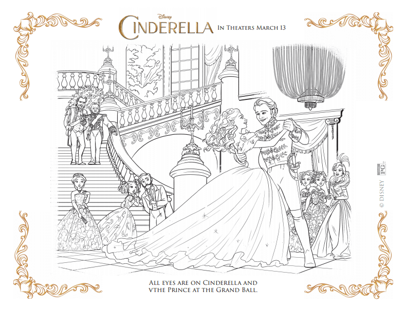 Cinderella Coloring Pages As The Bunny Hops
