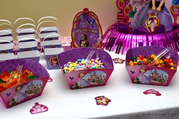 Include a fun mini candy buffet at your Sofia The First party!