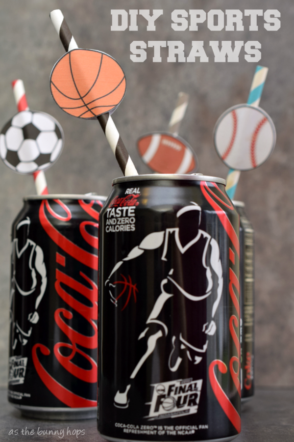 It's fun to make your own sports themed straws! #FinalFourPack #ad