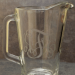 Etched Monogram Glass Pitcher Tutorial