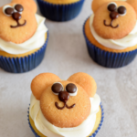 Paddington Inspired Cream Cheese and Orange Marmalade Teddy Bear Cupcakes