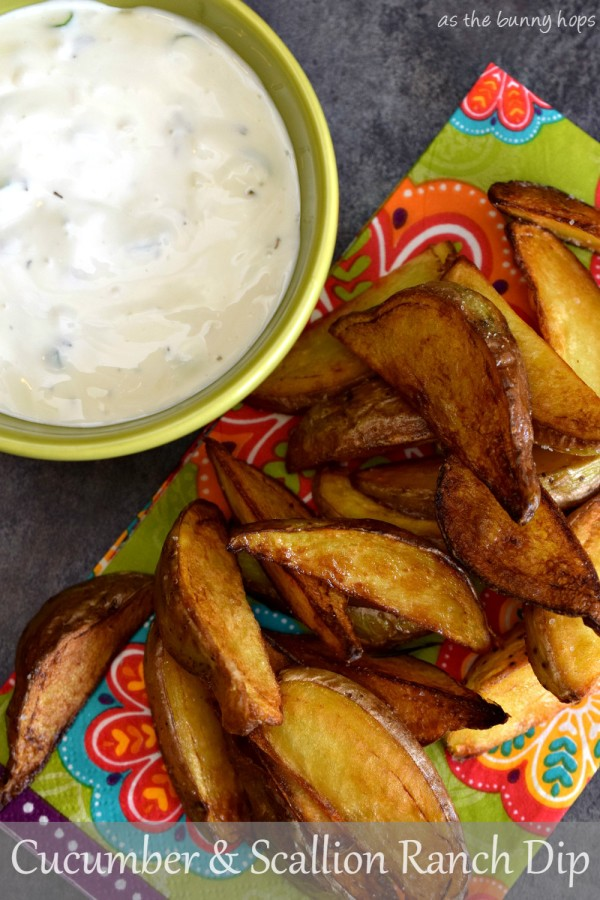 Cucumber and Scallion Ranch Dip